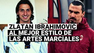 Zlatan Ibrahimovic demuestra toda su habilidad con las artes marciales en el calentamiento con el Milan