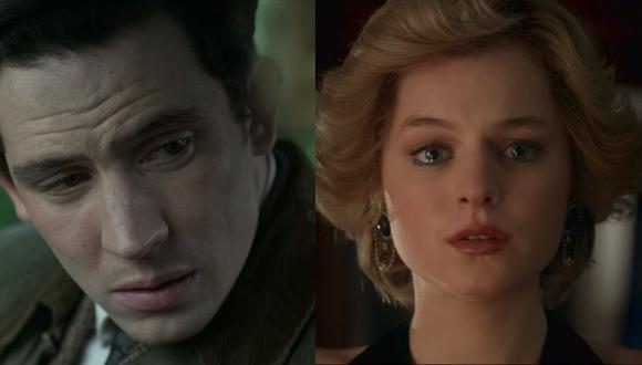 """De izquierda a derecha, Josh O'Connor y Emma Corrin caracterizados como los príncipes Carlos y Diana en """"The Crown"""", respectivamente. Foto: Netflix."""