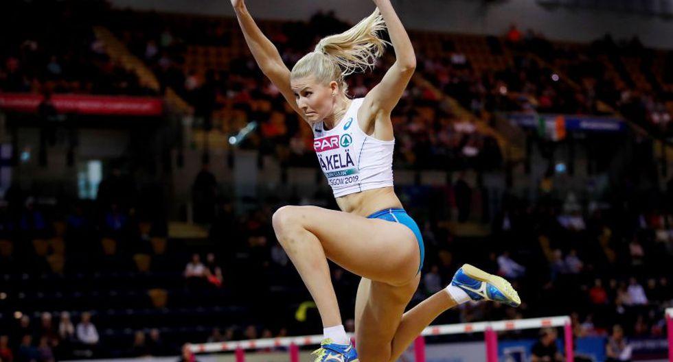 Kristiina Mäkelä es una atleta finlandesa que compite a nivel internacional en la especialidad de triple salto. Aquí la vemos en los Juegos de Glasgow 2019. (Foto: Agencias)
