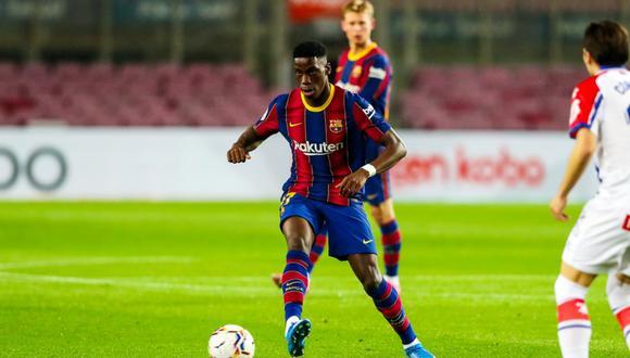 Ilaix Moriba solo jugó 18 partidos con el primer equipo del Barcelona. (Foto: @FCBarcelona).