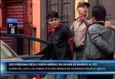 Cercado de Lima: dos hombres resultaron heridos durante balacera en bar de Barrios Altos