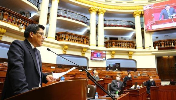 """Vicente Zeballos pidió al Congreso que """"corrija"""" la propuesta que se debatirá en la Comisión de Constitución sobre impedimentos para postular. (Foto: PCM)"""