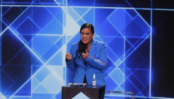 Mendoza participa en la primera fecha de los debates del JNE. (Foto: Mario Zapata Nieto / @photo.gec)