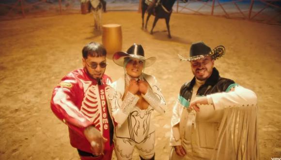Karol G lanza nueva canción al lado de su pareja Anuel AA y su gran amigo, J Balvin. (Foto: Captura YouTube).