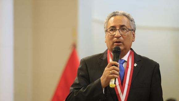José Lecaros Cornejo, arequipeño de 67 años, estará al frente de la Corte Suprema durante los próximos dos años . (Foto: Jessica Vicente/ GEC)