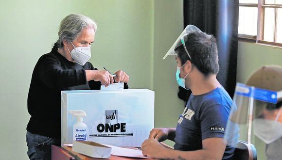 La jornada electoral en Perú, del 6 de junio, se desarrollará en medio de la pandemia a causa del COVID-19, tal como ocurrió la primera vuelta electoral de abril pasado. (Foto: GEC)