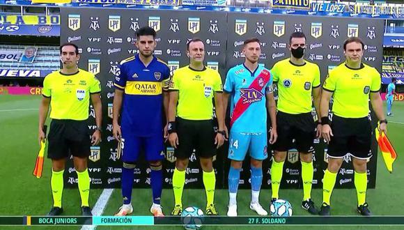 Zambrano venía de ser suplente con el 'Xeneize' por Copa Libertadores. (Foto: Captura)