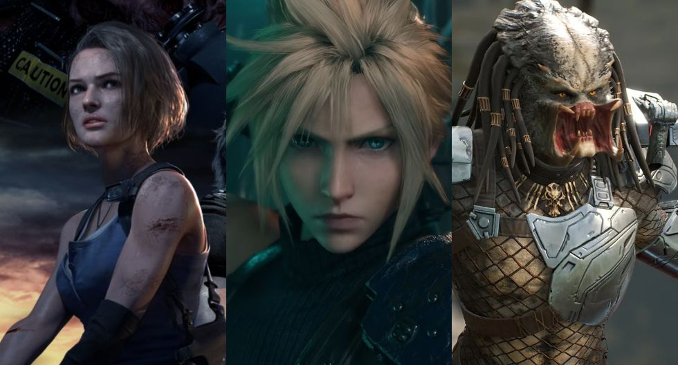 Resident Evil 3 Remake, Final Fantasy VII Remake, and Predator: Hunting Grounds premiere in April. (Diffusion)