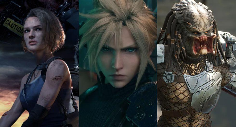 Resident Evil 3 Remake, Final Fantasy VII Remake y  Predator: Hunting Grounds se estrenan en abril. (Difusión)