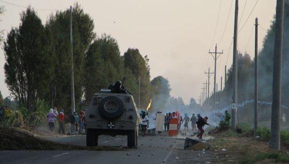 Tía María: enfrentamiento en Pampa Blanca duró más de dos horas