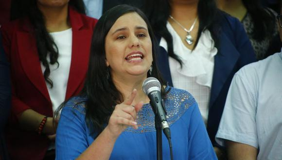 """""""Vamos a facilitar el acceso a un bono familiar habitacional y crearemos un programa para rebajar los intereses de los créditos hipotecarios con garantía estatal"""", señaló Verónika Mendoza. (Foto: Luis Centurión / GEC)"""