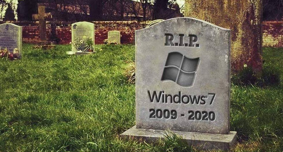 """Conoce los divertidos memes tras el """"fin"""" de Windows 7, el sistema operativo de Microsoft que vivió 10 años. (Foto: Windows)"""
