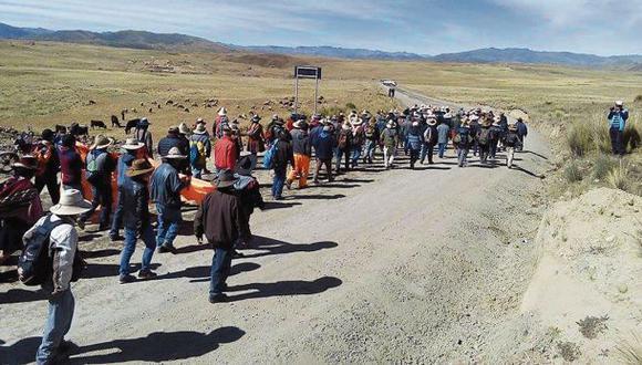 Cusco: suspenden protestas en la provincia de Chumbivilcas