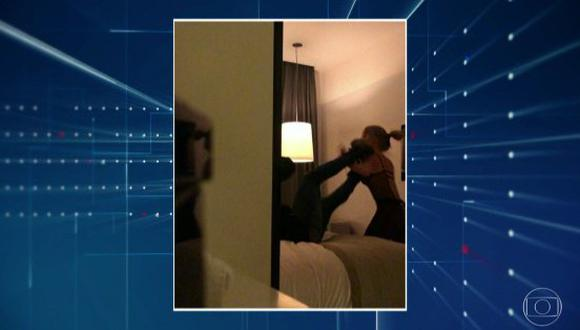 Neymar agrediendo a la mujer que lo denunció por abuso sexual. (Foto: Globo)