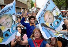 Seguidores de Alberto Fernández festejan la victoria de su candidato en Argentina | FOTOS