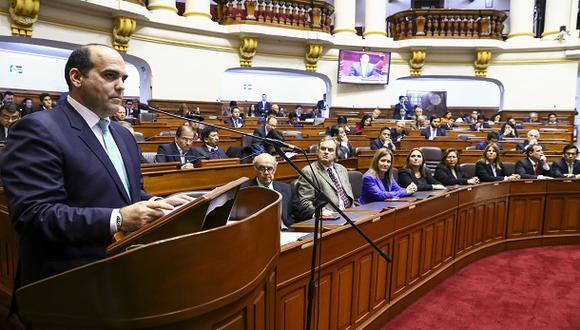 Fernando Zavala presentó la cuestión de confianza alrededor de las 4 de la tarde del último jueves. (Foto: Congreso de la República).