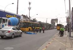 Chorrillos: motociclista muere tras ser atropellado por bus alimentador del Metropolitano | VIDEO
