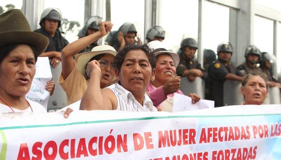 """""""Fujimori ha decidido deslegitimar el testimonio de miles de mujeres, que en sus relatos dan cuenta de la aplicación de una política de Estado"""". FOTOS: ALESSANDRO CURRARINO/EL COMERCIO"""