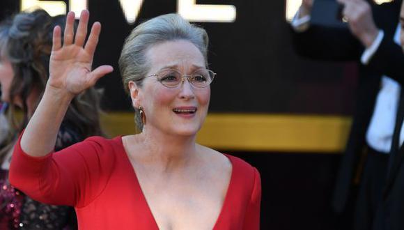 Meryl Streep durante la ceremonia de los premios Oscar 2018. (Foto: Agencia)