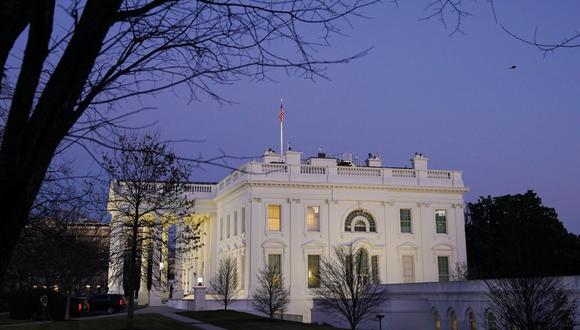 La Casa Blanca en el último día en el cargo del presidente de Estados Unidos, Donald Trump. (Foto de MANDEL NGAN / AFP).
