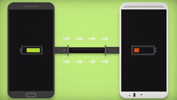 Recarga tu smartphone conectándolo a otro móvil