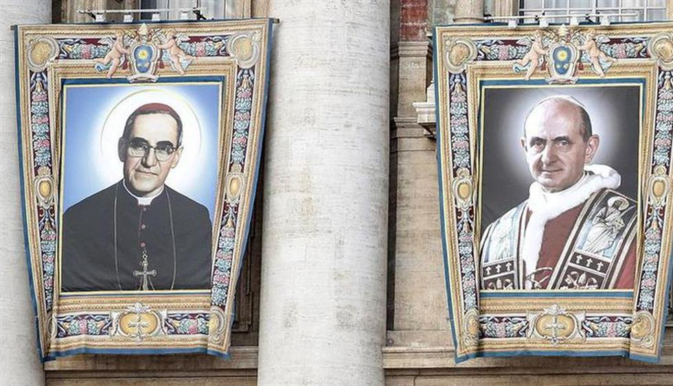 El Papa Francisco proclamó santo al arzobispo salvadoreño Óscar Romero   FOTOS