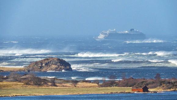 Viking Sky, el crucero averiado ayer por una falla mecánica. (Foto: AFP)