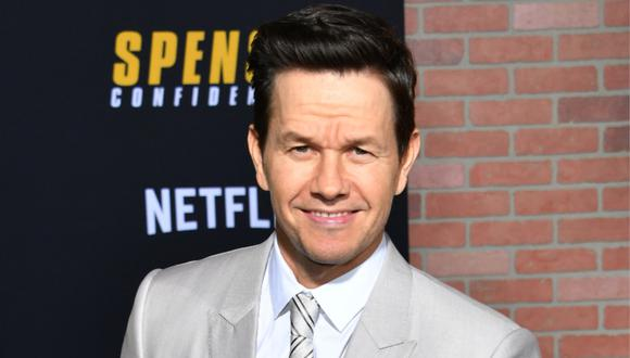 """Uncharted"": Mark Wahlberg se muestra con el bigote de Sully. (Foto: AFP/ Mark Ralston)"