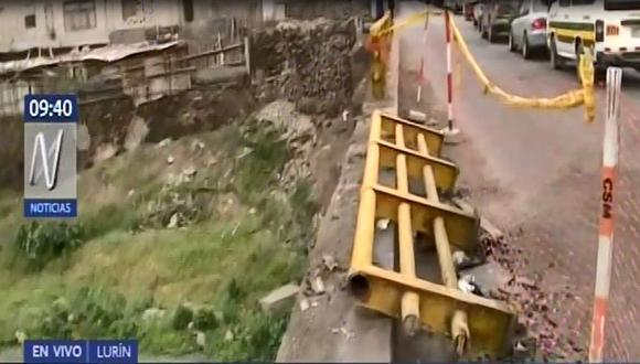 El burgomaestre dijo que la estructura se debilitó, tras el accidente ocurrido la noche del martes que dejó 12 heridos. (Captura: Canal N)