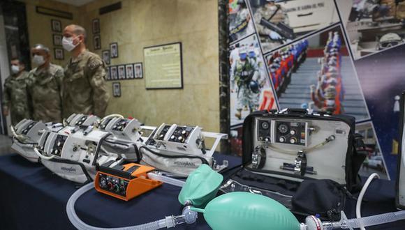 La entrega de la donación de ventiladores mecánicos para pacientes de COVID-19 se realizó en el Centro Médico Naval. (Foto: Difusión)