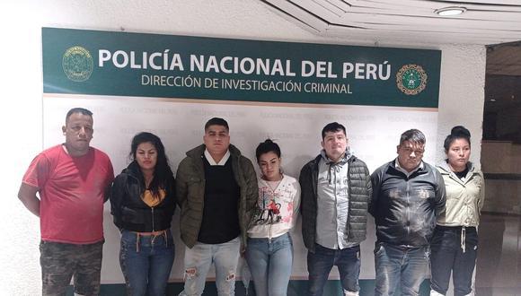 Los agentes los atraparon en el cruce de las avenidas Próceres de la Independencia y Tusílagos. (Foto: PNP)