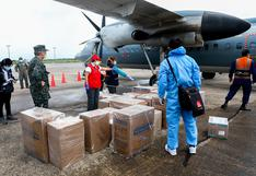 """Ministra de la Producción: """"Hemos trasladado hoy 1,5 toneladas de equipos de protección y medicinas a la región Loreto"""""""