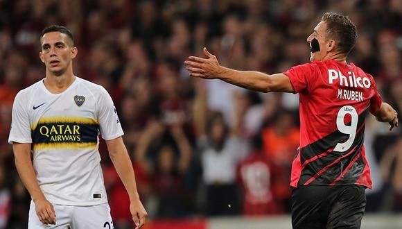 Boca cayó goleado en Brasil por 3 tantos a 0.   AFP