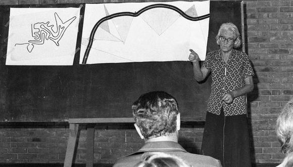 La arqueóloga alemana, María Reiche, dedicó sesenta años de su vida en la conservación de las impresionantes líneas de Nazca. (Foto: Archivo Histórico de El Comercio)