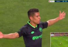 Paolo Hurtado marcó golazo de tiro libre para iniciar su hat-trick con Konyaspor | VIDEO