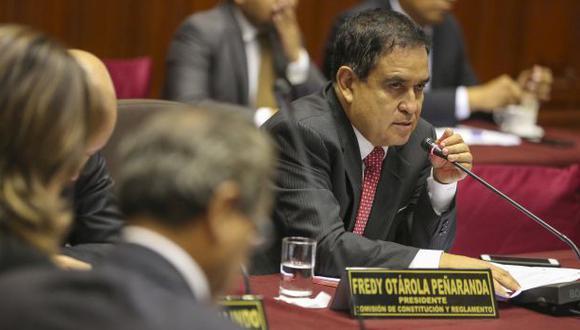 Fredy Otárola dijo que quizá lo dicho de PPK sobre La Oroya fue un desliz por su inexperiencia en asuntos de Estado. (Foto: Congreso de la República)