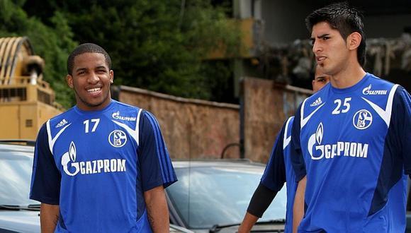 Jefferson Farfán y Carlos Zambrano jugaron juntos en el fútbol alemán. (Foto: Schalke 04)