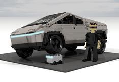 Tesla Cybertruck: fanático construye réplica con piezas de Lego   FOTOS