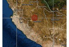 Ayacucho: sismo de magnitud 4,1 se registró en el distrito de Huanca Sancos, señala IGP