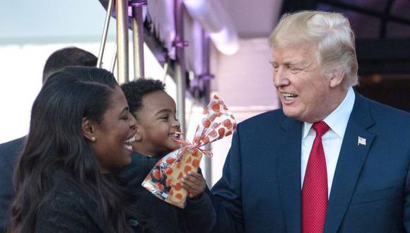 """Donald Trump admitió que tal vez el pleito público es indigno de una persona en el puesto que él ocupa, y tuiteó que sabe que """"no es presidencial"""" enfrentar a """"una infeliz como Omarosa"""". (Foto: AFP)"""
