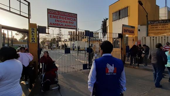 La Defensoría del Pueblo acudió al hospital y pidió la intervención de Susalud, para encontrar una solución a fin de que los niños continúen con el tratamiento. (Foto: Difusión)