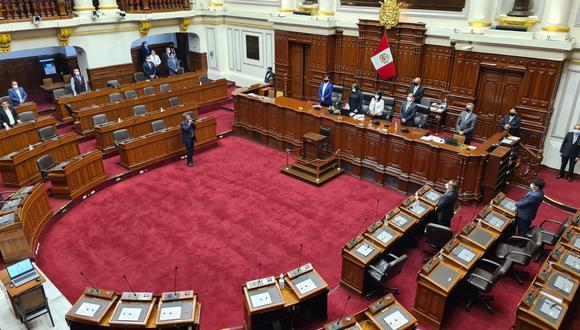 El acto ocurrió antes de iniciar la sesión plenaria en la que Francisco Sagasti (Partido Morado) fue elegido nuevo presidente de la Mesa Directiva del Congreso de la República. (Foto: Congreso)