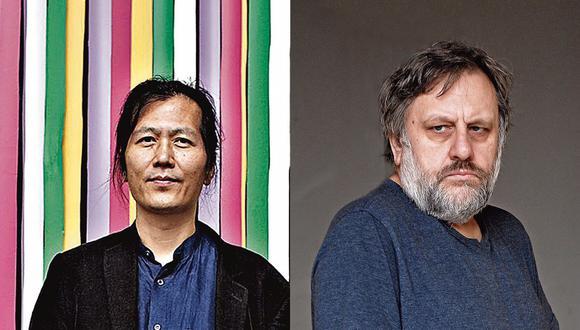 Enfrentados: el filósofo surcoreano Byung-Chul Han y el esloveno Slavoj Žižek.