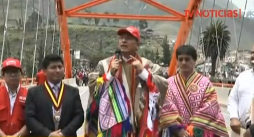 Presidente Martín Vizcarra descarta privatización del agua. (Captura: TV Perú)