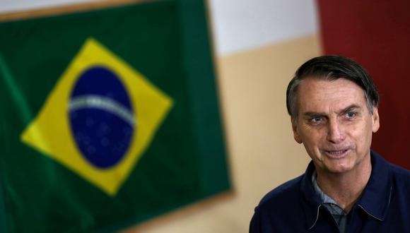 Jair Bolsonaro, el candidato de extrema derecha a la presidencia de Brasil, toma la delantera en la primera vuelta. (Foto: Reuters)