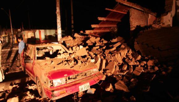 Terremoto en el sur. Vías de comunicación en Chincha cortadas. FOTO: ROLLY REYNA/EL COMERCIO