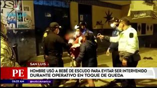 Hombre en estado de ebriedad usó a bebé de escudo para evitar ser intervenido