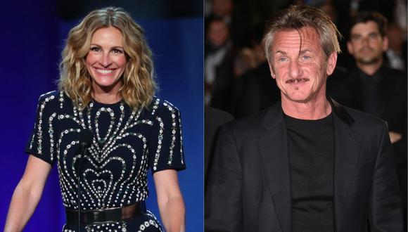 Julia Roberts y Sean Penn trabajarán juntos en serie sobre el escándalo Watergate. (Foto: AFP- Jean-Baptiste LACROIX/ALBERTO PIZZOLI)