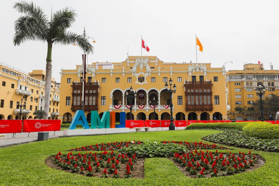 En el contexto de las Fiestas Patrias, la Municipalidad de Lima viene realizando una serie de preparativos en el Centro Histórico para la conmemoración del Bicentenario de la Independencia del Perú. (Foto: Municipalidad de Lima)