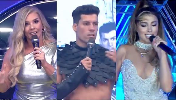 """""""Esto es Guerra"""" presentó novedades en su edición 2021, incluyendo el regreso de Johanna San Miguel a la conducción, además del ingreso de la cantante de salsa Yahaira Plasencia. Fotos: América TV."""